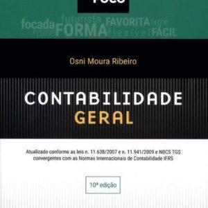 Livro Manual de Contabilidade Geral, 10 Edição, do AutorOsni Moura Ribeiro. R$89,91